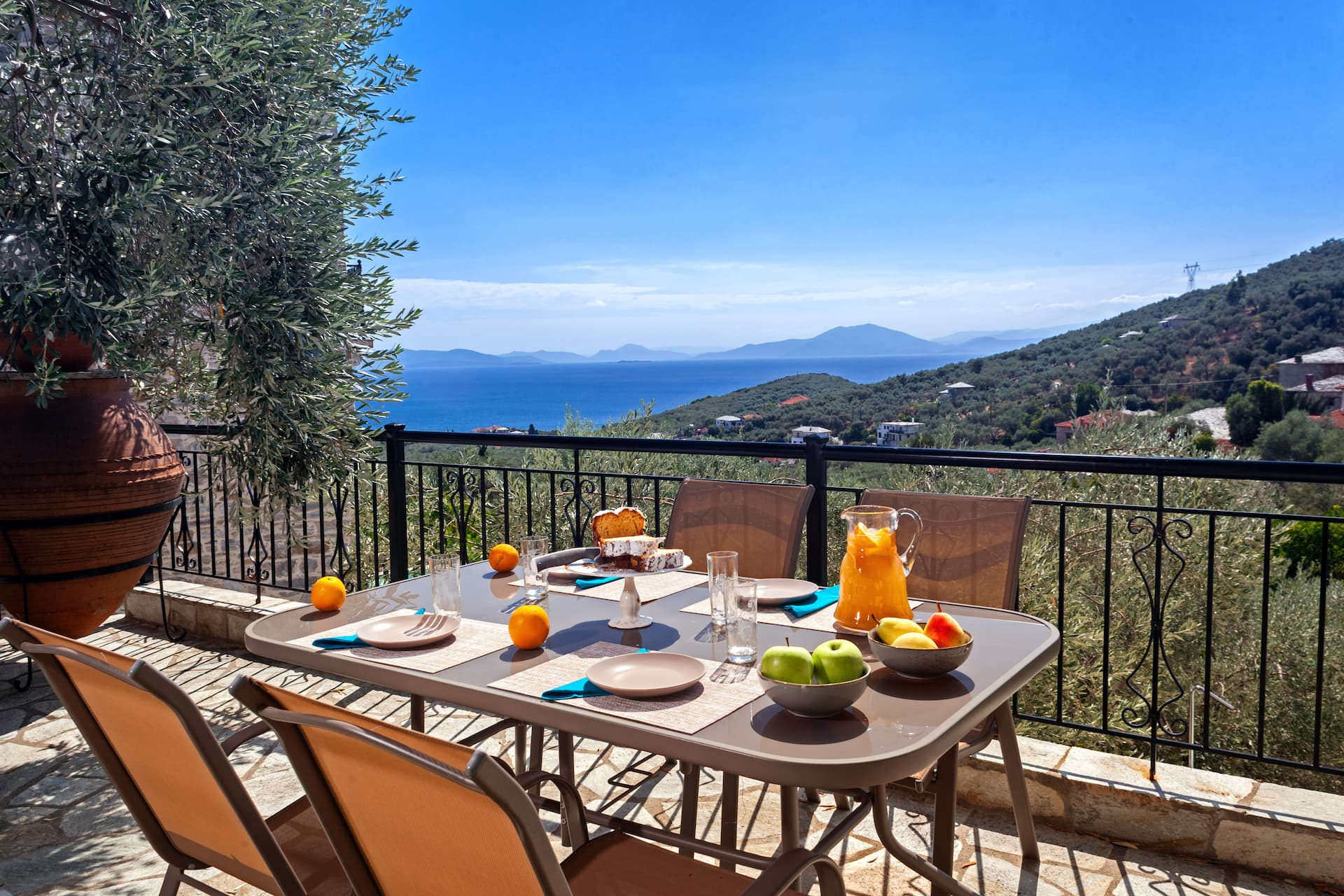 view from a villa in pelion