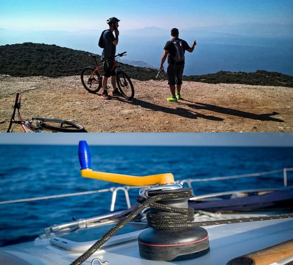 bicycling and sailing