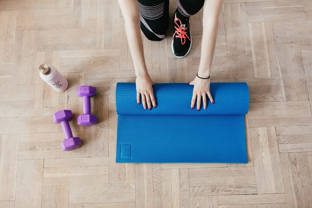 gym equipment in home